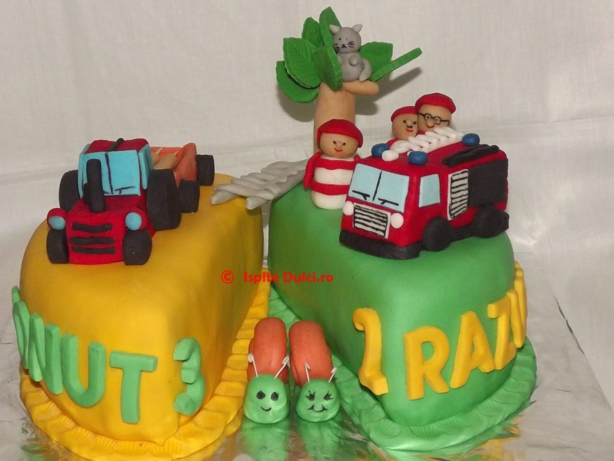3 D торт Трактор. Как сделать 3D торт для мальчика 96